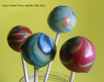 Marble Cake Pops