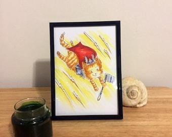 Thunder Kitty Cat Art from Lisa Vissichelli Designs