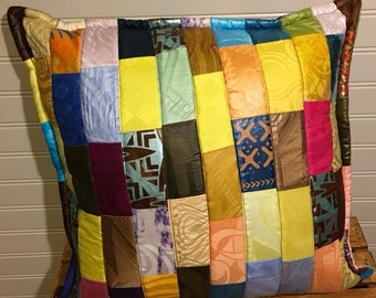 Pillow, African Patchwork Quilted