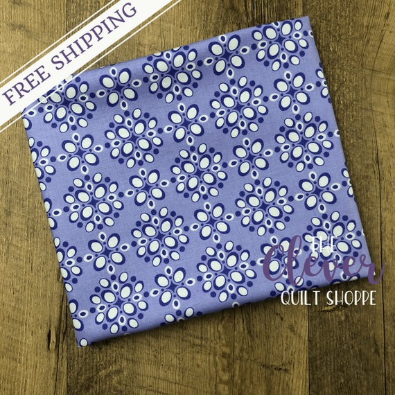 Yardage, Michael Miller Fabric, Project Dovetail, Pomegranate Seeds, Lilac, Purple, Floral, Geometric, Lavender, , Quilting