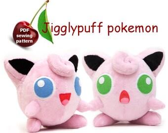 Jigglypuff plushie sewing pattern ~ PDF
