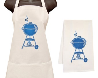 grill apron and towel set