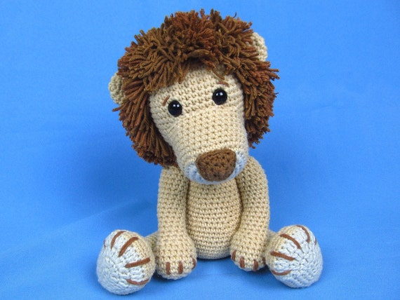 León Amigurumi Tutorial : My friend lion leo amigurumi crochet pattern pdf e book