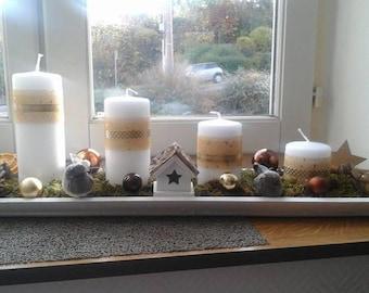 modern and original advent wreath
