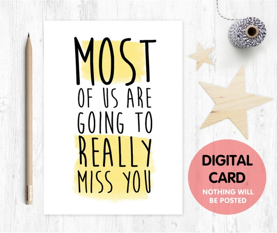 PRINTABLE funny leaving card printable funny retirement card most of us are going to miss you card instant download love paper rainbow
