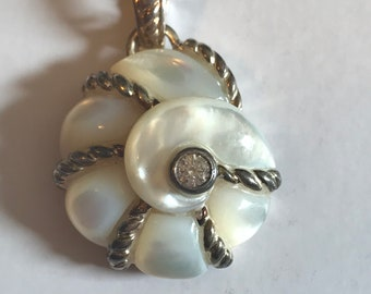 Sterling Silver Mother of Pearl Judith Ripka Pendant Charm