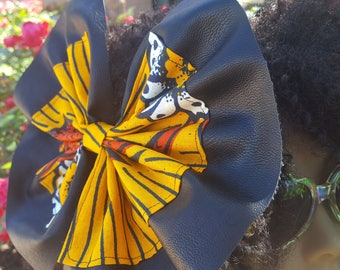 Large hair bows, Leather hair bows, Womens hair bow,  African hairbows, Ankara hair bows, Hair bows for women, Gifts for women, Hairbows