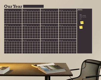 Weekly Planner Decal Chalkboard Calendar With Foot Memo