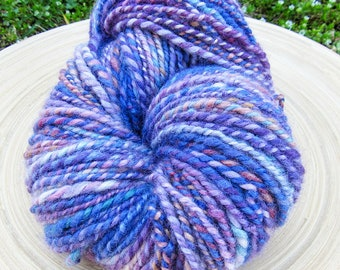 Handspun yarn - leicester wool hand dyed - 2 ply - 150 grams 167 yards