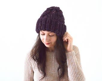 Knit Double Brim Chunky Men Woman Beanie Hat | The Calgary
