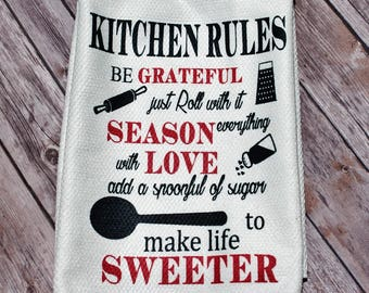 Kitchen Towel, Dish Towel, Kitchen Gifts, Christmas Gift, Microfiber Towel