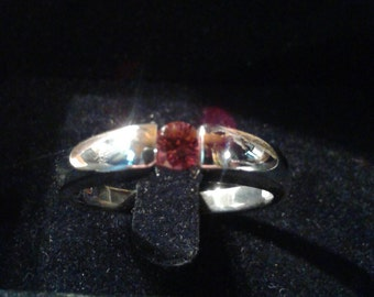 Natural Cinnamon Zircon Sterling Silver Gent's Ring