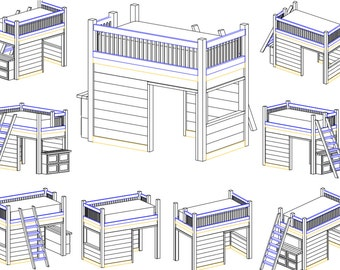 Playhouse Loft Bed Instruction Set (Digital Copy)