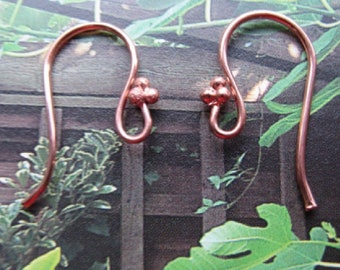 10 Pairs of Copper Ear Wires