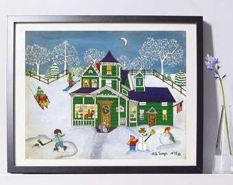Stowe, Vermont Art Painting - Country Living Gift - Home Decor - Pat Singer's New York