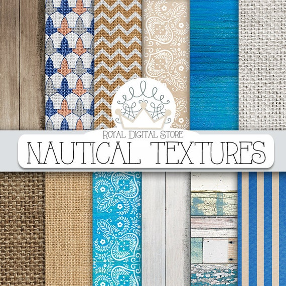 Nautical Digital Paper Nautical Textures With