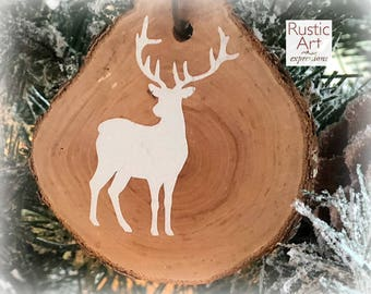 Buck Standing Rustic Ornament | Reclaimed Wood Christmas Ornament | Hostess Gift