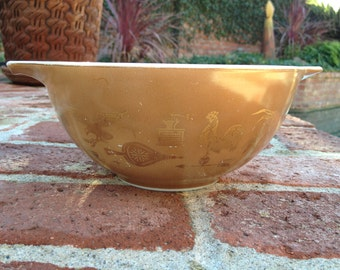 Pyrex Brown Americana 1.5 Quart 442 Cinderella Bowl