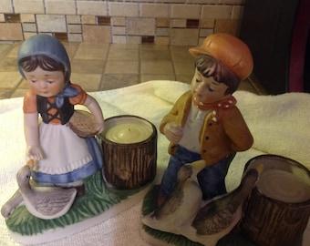 Vintage Collectable 1979 CMA Porcelain Votive Candle Holders