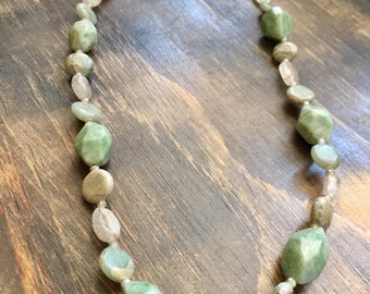 """22"""" Beaded Jadeite Necklace, beaded necklace, gifts for women mom sister best friend wife girlfriend"""