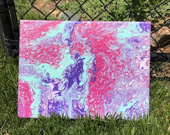 Abstract Fluid Painting -- Inside the Hyacinth