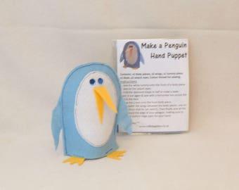 Penguin hand puppet kit