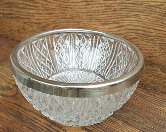 Vintage Large Crystal Bowl- Raimond- Made in England- Fruit/Serving Bowl