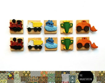 Transport Magnets [Fridge Magnets, Fridge Magnet Sets, Refrigerator Magnets, Magnet Sets, Office Decor, Kitchen Decor, Magnetic Board]