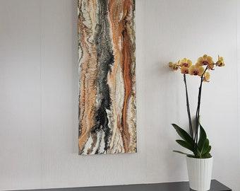 30x80 Original Painting, Fluid Art, Abstract Art, Acrylic Painting on Canvas