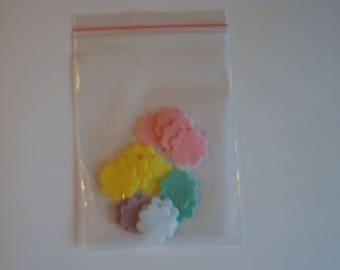 Felt flowers packs (2 cm diameter), Die cut Craft, Embellishments
