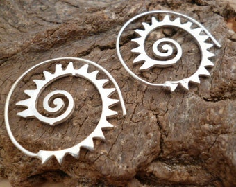 Handmade Silver Tone swirl Spiral Earrings_MP/063018460334_Fashion accessories_Spiral_Gift Ideas