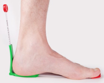plus12med: foot AND shoe fitting device (diabetic version), tape measure shows EU-sizes and millimetres