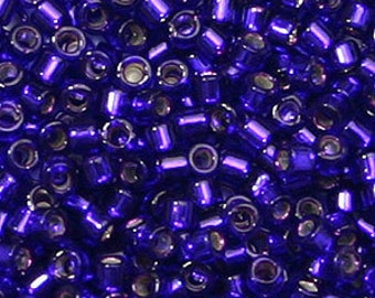 DB-610, Miyuki Delica Beads, Size 11/0, Silver-Lined Royal Purple - Available in 5g, 7.5g & 10g Pkgs and also in Larger Pkgs