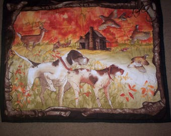 BIRD DOG HUNTING Hand Quilted Wall Hanging