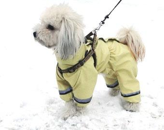 Dog raincoat custom made