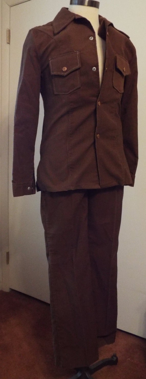 Vintage Brown Corduroy Suit by JC Penney CC3OeXED