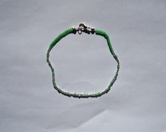 One Custom Les Misérables Morse Code Bracelet - Silver / Gold