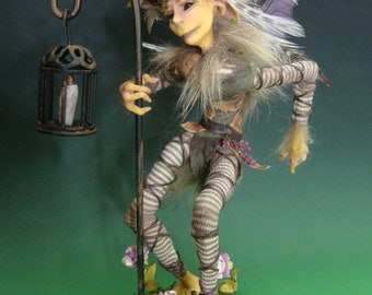 "OOAK ""Thicket"", a One of a Kind Art Doll sculpture by Victoria Mock"