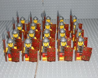 20 miniature figures Roman soldiers with Shield and Spear, Romans, new