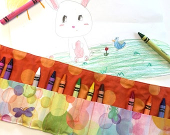 Butterflies and Bubbles Crayon Roll
