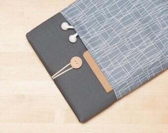 "Macbook sleeve 12 inch / MacBook case, Custom laptop sleeve, 12"" laptop - Web grey graphite"