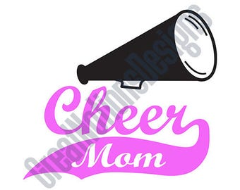 Cheer Mom Megaphone SVG - HTV - Vinyl Cutting Graphic Art
