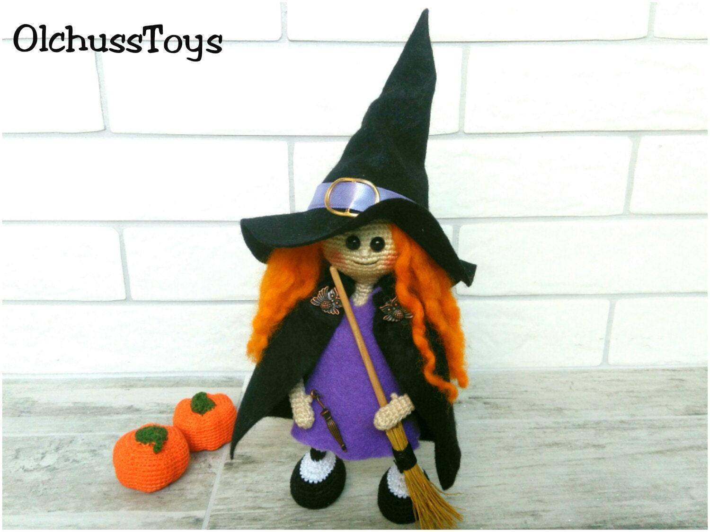 Halloween Witch crochet Witch Doll Amigurumi Witch doll Plush