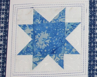 Snowflakes Patchwork Note Cards / Christmas Cards
