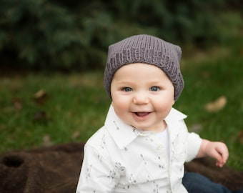Knitting toddler hat pattern, hipster children's hat pattern, knitting child hat pattern, slouchy beanie for kids, baby slouchy beanie