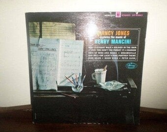 Vintage 1964 Vinyl LP Record Quincy Jones Explores the Music of Henry Mancini Very Good Condition 4326