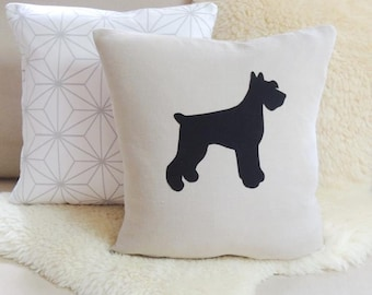 Giant Schnauzer Pillow Cover - Pointy or Floppy Ears