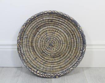 Moroccan Woven Plate - Purple