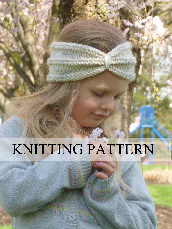 KNITTING PATTERN Turban Headband Knit Turban Headwrap