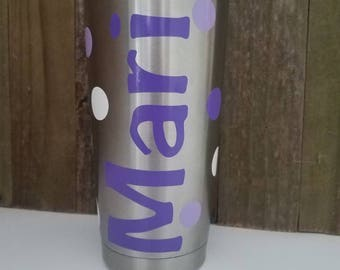 Personalized Polka Dot Tumbler